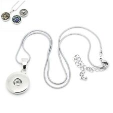 Wholesale Lots Lobster Clasp Snake Chain Necklace Pendant Fit Snap Buttons ST