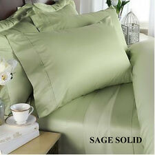 600 Count Sage Solid With Extra Sizes Sheet Set 100% Cotton Select Bed Pocket's