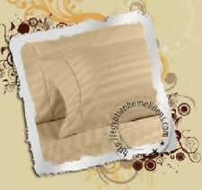"""400TC Sheet Set With Extra Deep ( 8 -30"""") 100% Cotton All Size & Stripe """" Beige"""""""