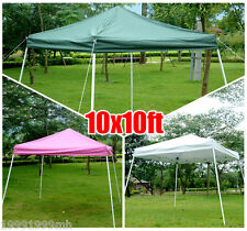 Outsunny 10'x10' Folding Tent Pop Up Outdoor Patio Instant Canopy Shelter