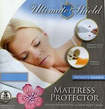 Bed Bug/Allergy Relief Waterproof Mattress Cover Protector Cotton Top All Sizes