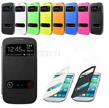 S-VIEW Flip Wallet Phone Cover Case For Samsung Galaxy S3 S III  Mini i8190