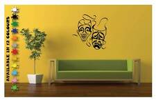 Happy Sad Face Theater Masks Vinyl Wall Decal Sticker Home Decor