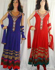 Bollywood Indian Designer Long Anarkali Suit Wedding Party Asian Dress Partywear