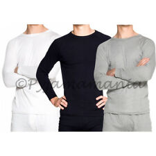Mens 3 pack of Cotton Thermal Underwear Long Sleeve Tops  sizes S-XXL