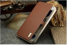 Luxury Aluminum & Dermis Leather Case Cover For Samsung Galaxy Note 2 II N7100