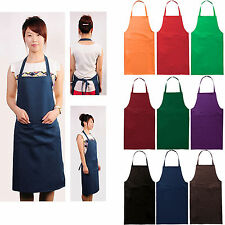 Polyester Restaurant Home Kitchen Craft Work Commercial Kit Apron Many Colors