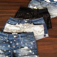 NWT 2014 VICTORIA SECRET PINK Premium Bling Hardware Denim Shorts
