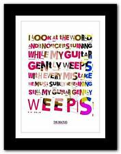 THE BEATLES - While My Guitar Gently Weeps ❤ typography poster art print