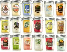 Bath & Body Works MASON JAR SCENTED CANDLES You Pick Your Favorite Scent 30-40hr
