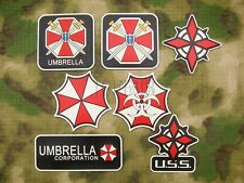 Luminous Resident Evil Umbrella Corporation U.S.S UBCS 3D PVC Velcro Patch