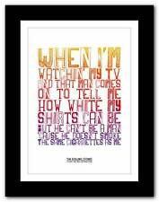 THE ROLLING STONES (I Can't Get No) Satisfaction  ❤ typography poster art prints