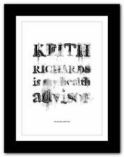 What would Keith do ?  THE ROLLING STONES  #5 ❤  typography poster art print