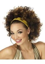 Brand New Disco Fab 70's Afro Halloween Costume Wig Brown