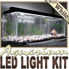 Aquarium Saltwater WhiteLED Strip Lighting Complete Package Kit Lamp Light DIY