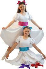 Dance Show-Chitty Bang Bang-Sound Of Music-Satin Dress With Deluxe Sash ALL AGES