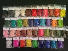 Rainbow Loom Rubber Band Refills * 50+ DIFFERENT PACKS of 100 + C-CLIPS *