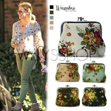 Women Wallet Flower Kisslock Lady Key Coin Holder Bag Small Packet Pouch Purse