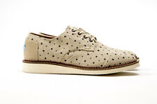 Toms Mens Brogue Natural Dots Chambray BNIB Sizes 7-14