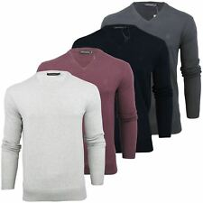 Mens French Connection/ FCUK Italic Logo V Neck Jumper