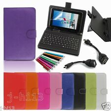 """Keyboard Case Cover+Gift For 7"""" 7-Inch Monster M7 M71BL Android Tablet GB6"""