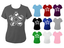 Womens Rock Paper Lizard Spock Big Bang Theory T-shirt NEW UK 6-18