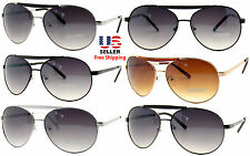AVIATOR PILOT OUTDOORSMAN STYLE MULTI COLORS METAL FRAME SUNGLASSES SHADES
