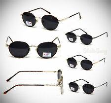Retro Eyewear Vintage Fashion Oval Dark Lens Metal Sunglasses
