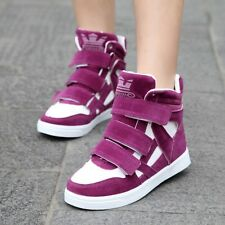 Womens Shoes Fashion Sneakers High Top Wedges Heels VELCRO Athletic Shoes Sizes