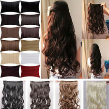 Hot Fashion Long Women Hair Clip in Hair Extensions Curly Straight 30 Colors hst