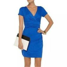 DVF Diane Von Furstenberg CHELSEA Ruched Draped Jersey Dress Dark Lapis $245