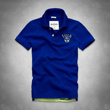 BACK TO SCHOOL ABERCROMBIE KIDS BOYS POLO T SHIRT SZ S M L XL NWT blue RED gray