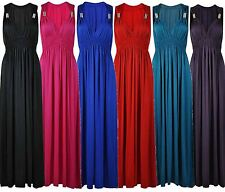 New Womens Plus Size Jersey Knit Spring Maxi Dress 8-22