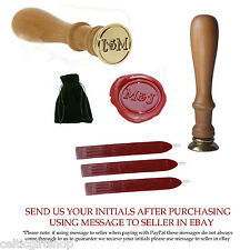 Personalised Wax Seal Stamp Your Initials for Wedding Invitations + 3 Wax Sticks