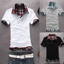 Newly  Mens Slim Fit POLO Shirt Short Sleeve Casual T-shirts Tee