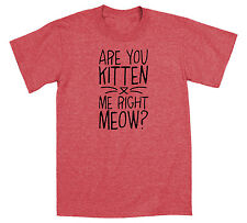 Are You Kitten Me Right Meow Funny Caturday Leopard Cat Print Humor Mens T-Shirt
