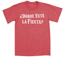 Donde Esta La Fiesta  Humor Cinco de Mayo Cool Spanish Pinata Party Mens T-Shirt