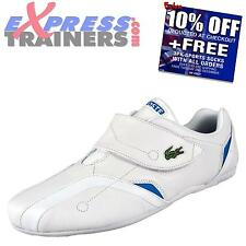 Lacoste Mens Protect Designer Leather Velcro Trainers White New 2014 *AUTHENTIC*