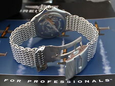 HEAVY MESH BRACELET BAND METAL STRAP BAND TO FIT  BREITLING COLT A57035 A17350
