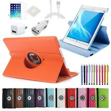 7in1 Accessories Bundle+Rotating Leather Case Smart Cover for Apple iPad air 5