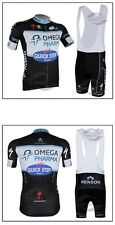 Quick-Step Cycling Clothing Jersey & Bib Pants Kit Sets Coolmax Padding A61