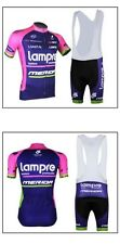 Lampre-Merida Cycling Clothing Jersey & Bib Shorts Kit Sets Coolmax Padding A84