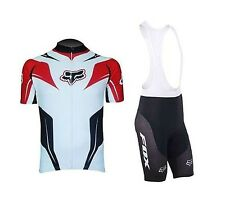 FOX Cycling Clothing Jersey & Bib Shorts Kit Sets Coolmax Padding A50