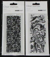 Kaisercraft TEXTURE Clear Stamps 'BLOOM & FLOURISH'  (You choose design) KAISER