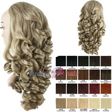 Long curly Hair Fall Half Wig synthetic hairpiece Various colours