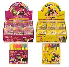 6 Face Paint Stage Make Up Painting Kit Crayons Sticks Party Fancy Dress Prop