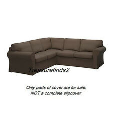 For Parts Ektorp Corner sofa 2+2 Slipcover Cushion covers, Jonsboda brown
