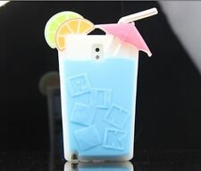 Summer Cool Drinks Silicone Case Cover Skin for Samsung Galaxy Note 3 N9000