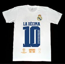 T-shirt Real Madrid champions league 10 La Decima Maglietta celebrativa All Size