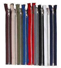 YKK Metal Teeth Zip Open Ended ( Choose your Colour and Size )